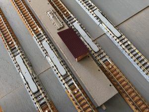 Nゲージ線路敷設