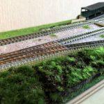 ローカル駅のジオラマ