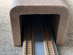 U字発泡スチロールでトンネル