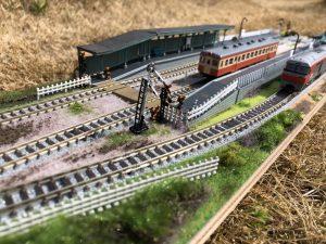 ローカル駅Nゲージのジオラマ