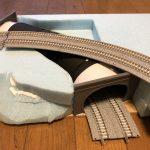 トンネルと立体交差(Nゲージのジオラマ)
