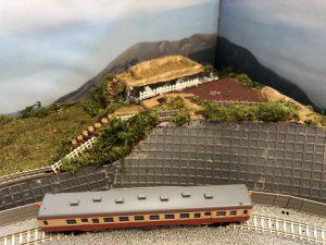 城跡模型と鉄道模型