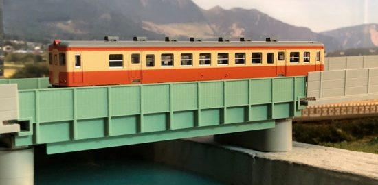 橋の完成(Nゲージのジオラマ)