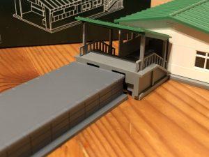 KATOの地上駅舎23-210をトミックスホームに合わせる