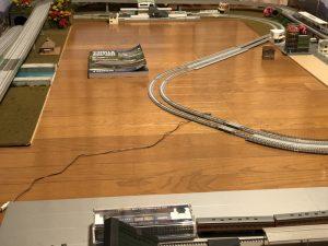 鉄道模型の分割式レイアウト