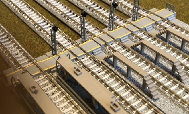車両基地レール延長部を使用した機関区
