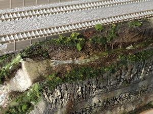 Nゲージのジオラマ「渓流」