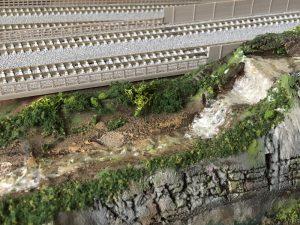 鉄道模型ジオラマ「清流」
