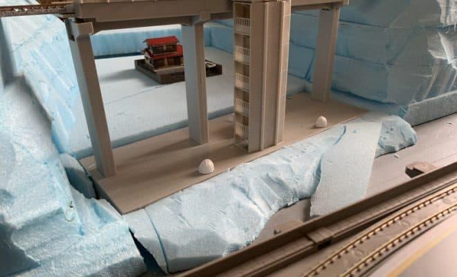 鉄道模型ジオラマの「山」を作る