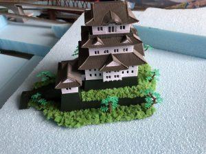 鉄道ジオラマに「小田原城」