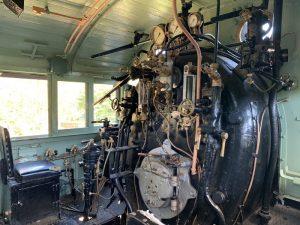 国鉄E10形蒸気機関車の運転台