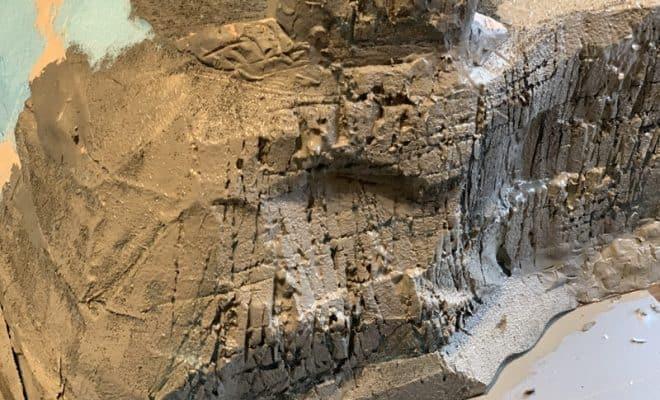 岩肌を作って色を塗る・Nゲージジオラマ