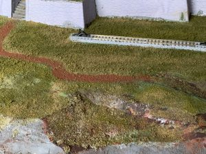 地面作り Nゲージのジオラマ