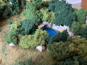 ジオラマ「池」Nゲージ