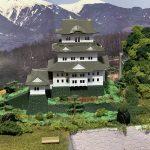 鉄道模型ジオラマに「お城」を設置