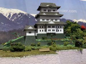 鉄道ジオラマに小田原城を設置