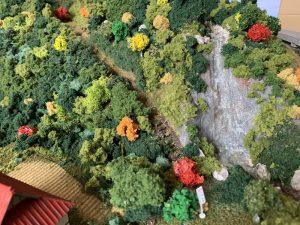 Nゲージ・ジオラマの滝