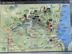 比叡山案内図
