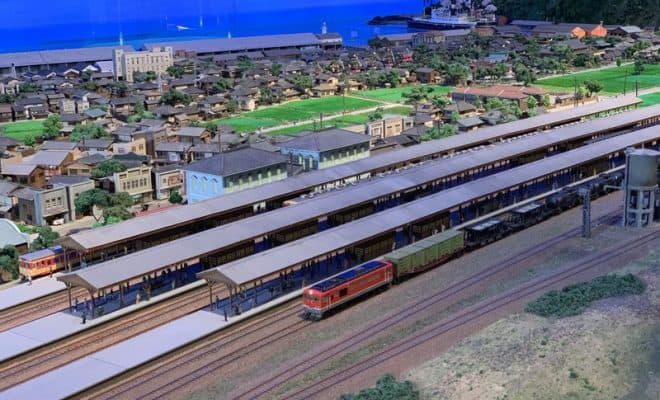 鉄道と港の「ジオラマ館」