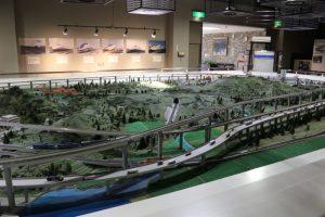 三笠鉄道記念館のジオラマ