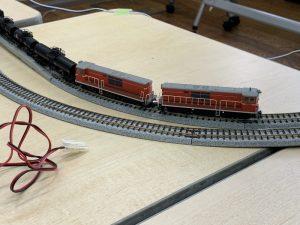 DD14形ディーゼル機関車の重連
