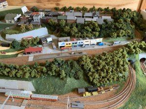 加悦鉄道資料館のジオラマ