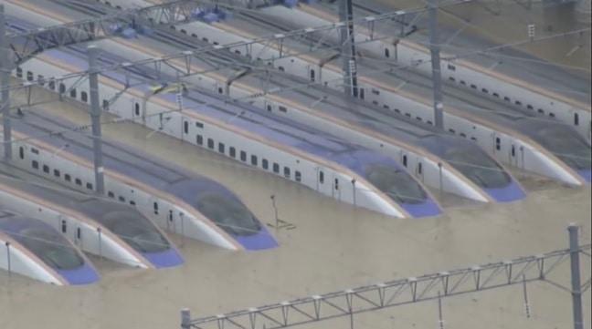北陸新幹線が水没