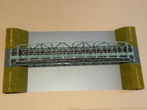 分割式ジオラマの鉄橋モジュール