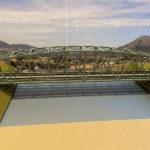 鉄橋を大きな河川に「簡単」モジュール