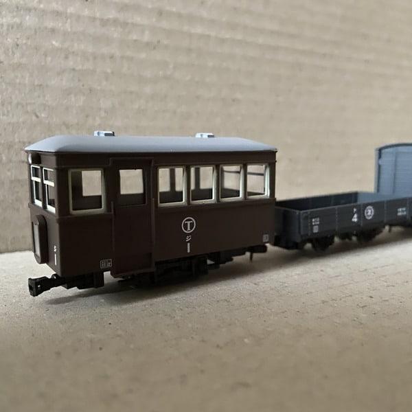 猫屋線 ジ1・ト4・ワフ1 茶色塗装 ナローゲージ80
