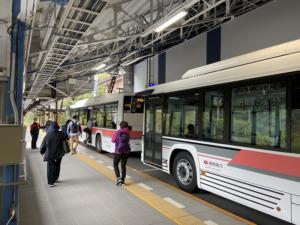 関電トンネル「電気バス」