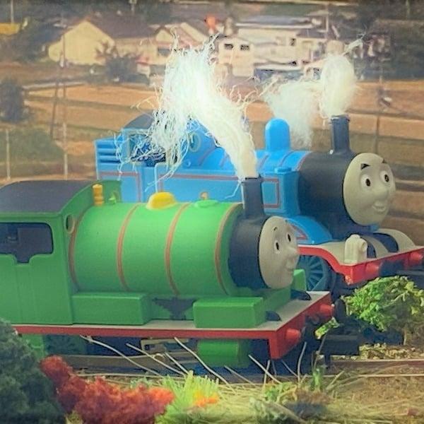 蒸気機関車から「煙」が出るように改良 Nゲージ鉄道模型