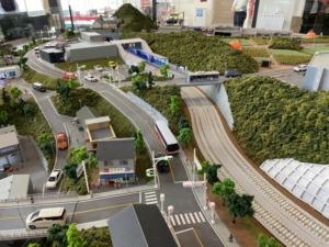 京急ミュージアムの鉄道模型ジオラマ